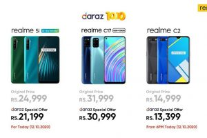 10.10 Sale offers live at realme's official store on Daraz