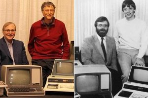 Founder of Microsoft Bill Gates and Paul Allen