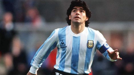 """To see the ball to run after it makes me the happiest man in the world Diego Maradona """"THE LEGEND"""" has left the world."""